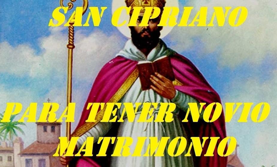 rezos, palabras y plegarias a San Cipriano para conseguir esposo o esposa