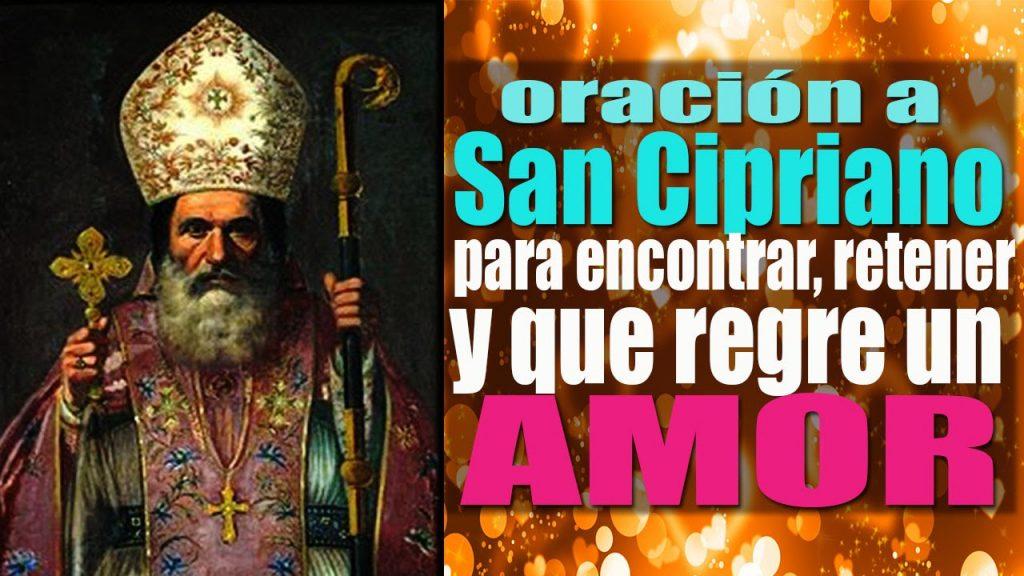 rezos, palabras y plegarias a San Cipriano para los amores
